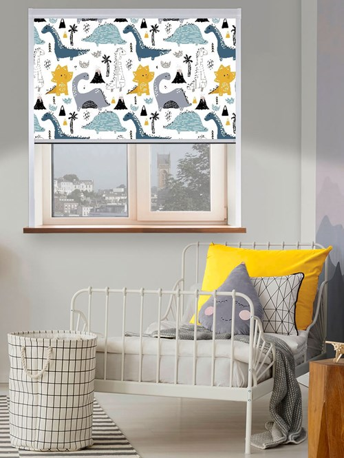 Designer Dinos Total Blackout Roller Blind