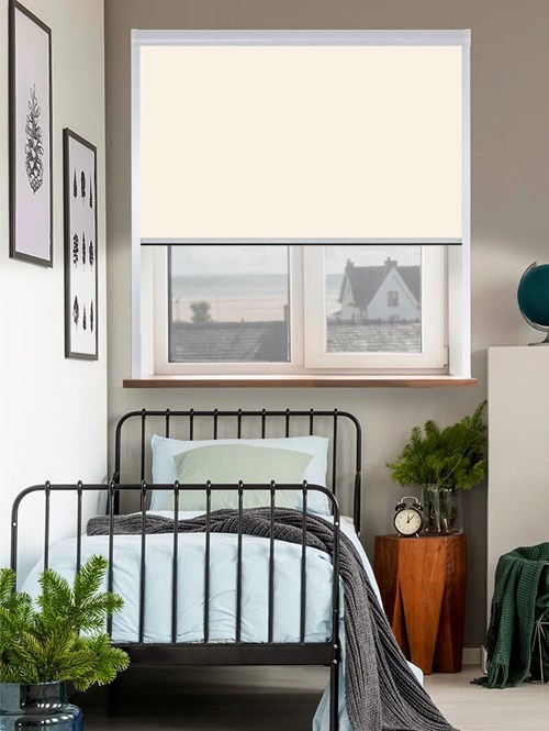 Classic Ivory Total Blackout Roller Blind