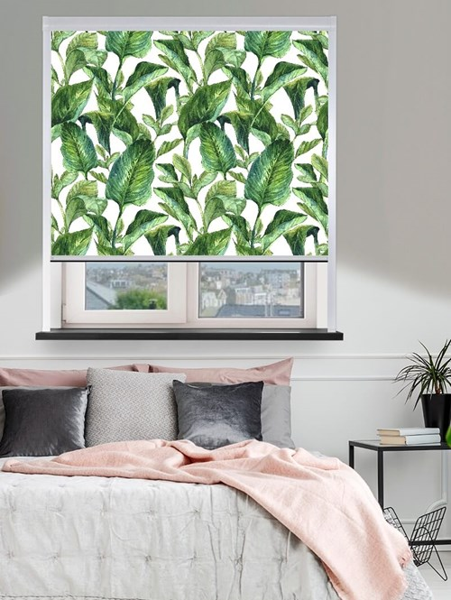 Jungle Leaves Day Total Blackout Roller Blind