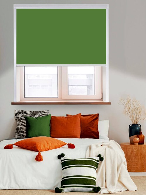 Thermal Plus Basil Total Blackout Roller Blind