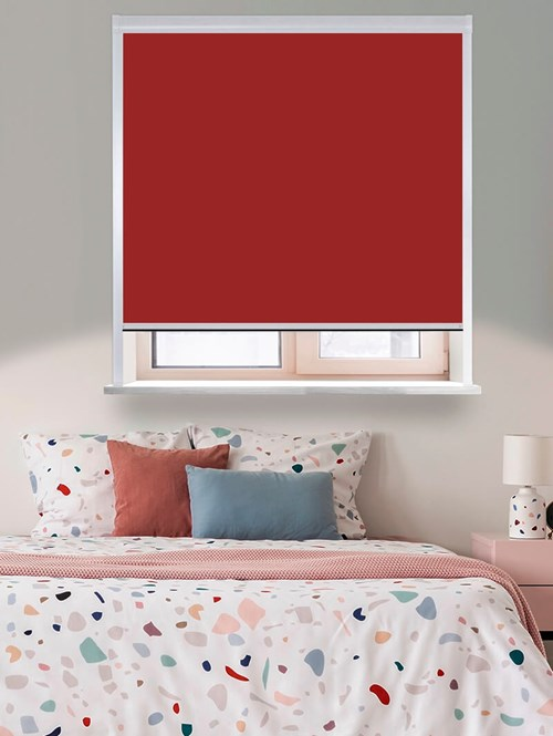 Thermal Plus Rouge Total Blackout Roller Blind