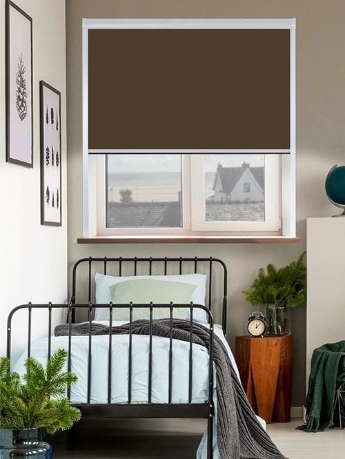Thermal Plus Cocoa Total Blackout Roller Blind