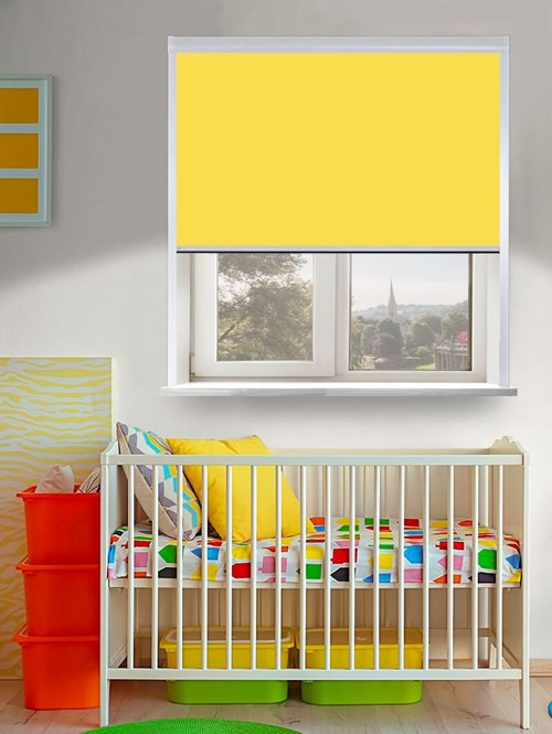 Thermal Plus Yellow Total Blackout Roller Blind