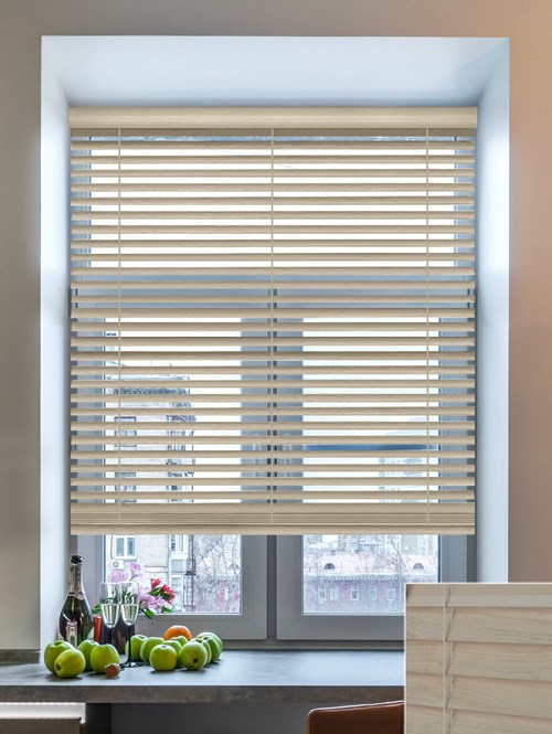 Tove 50mm Wooden Electric Venetian Blind