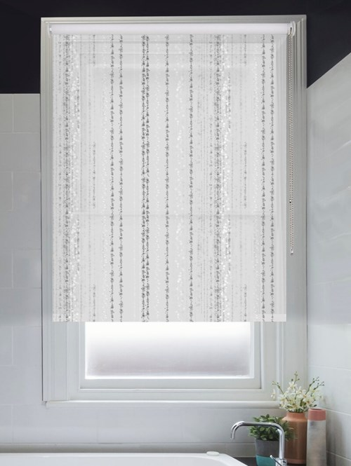 Trailing Stripe Grey Roller Blind