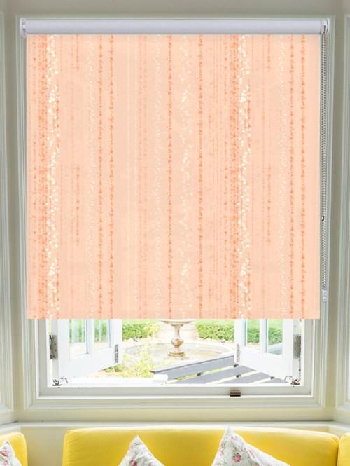 Trailing Stripe Peach Roller Blind