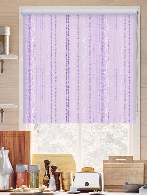 Trailing Stripe Violet Roller Blind