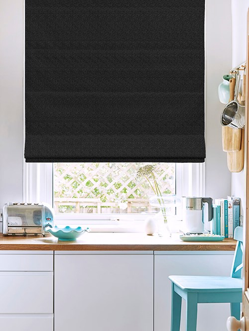 Tribeca Crow Blackout Electric Roman Blinds