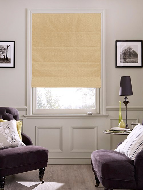 Tribeca Hay Bale Blackout Electric Roman Blind