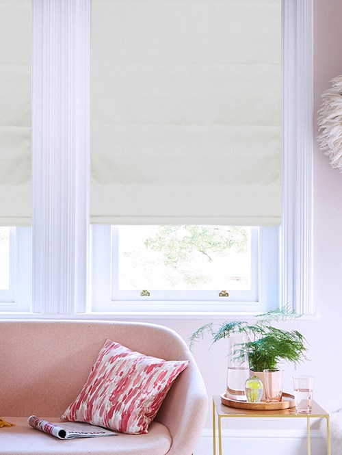 Tribeca Porcelain Blackout Electric Roman Blind