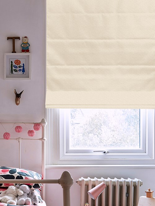 Tribeca Shearling Blackout Electric Roman Blind