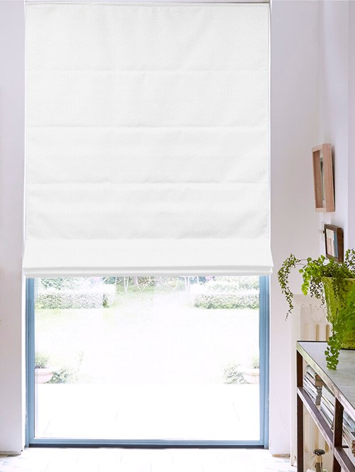 Tribeca Snowstorm Blackout Electric Roman Blind