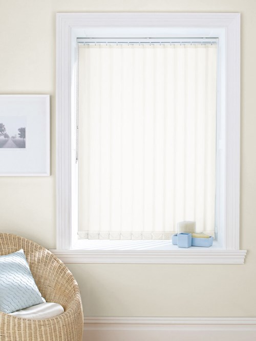 Milky White Daylight 89mm Vertical Blind Replacement Slats