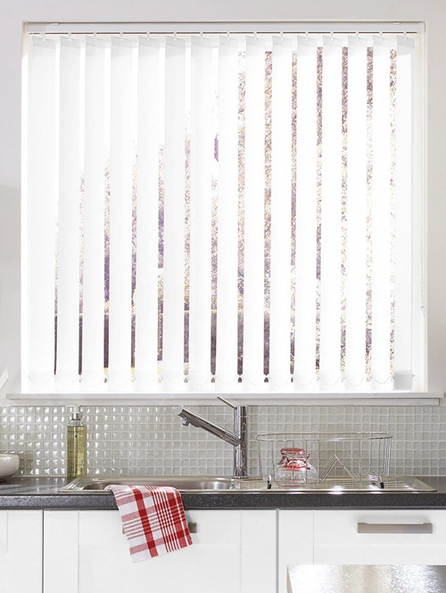 White Daylight 89mm Vertical Blind Replacement Slats