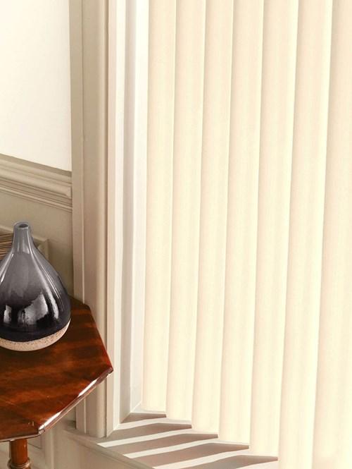 Matte Cream Rigid PVC 89mm Vertical Blind