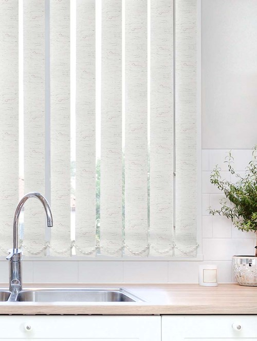 Contrast White Waterproof 89mm Vertical Blind Replacement Slats