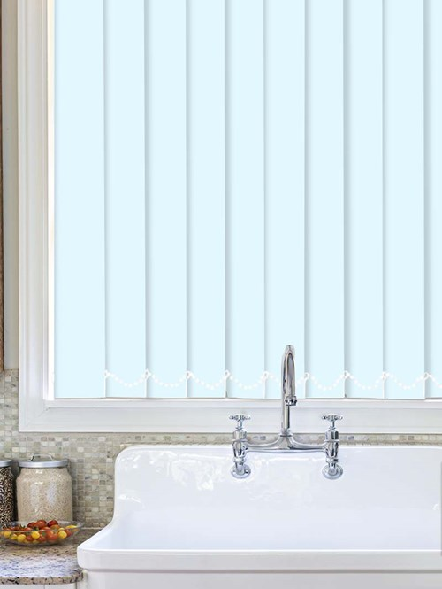 Air Force Blue Plain Waterproof 89mm Vertical Blind Replacement Slats
