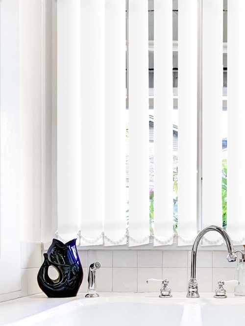 White Plain Waterproof 89mm Vertical Blind Replacement Slats