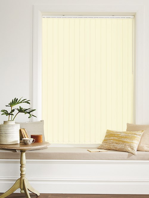 Cream Blackout 89mm Vertical Blind Replacement Slats