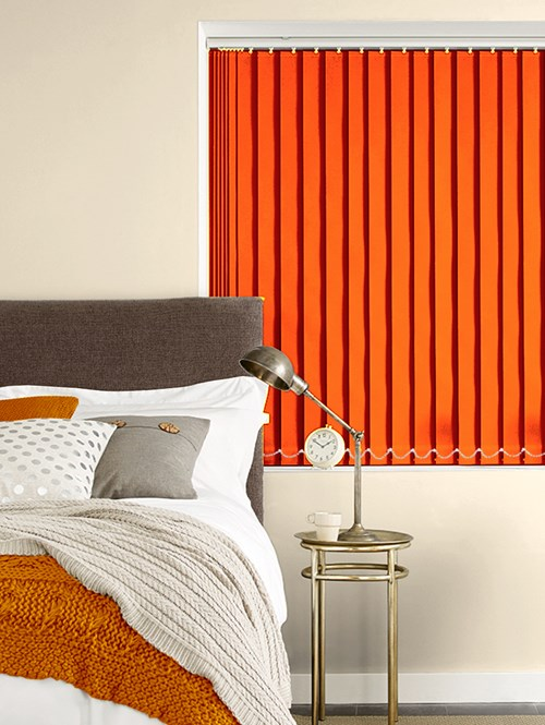 Action Orange 89mm Blackout Vertical Blind