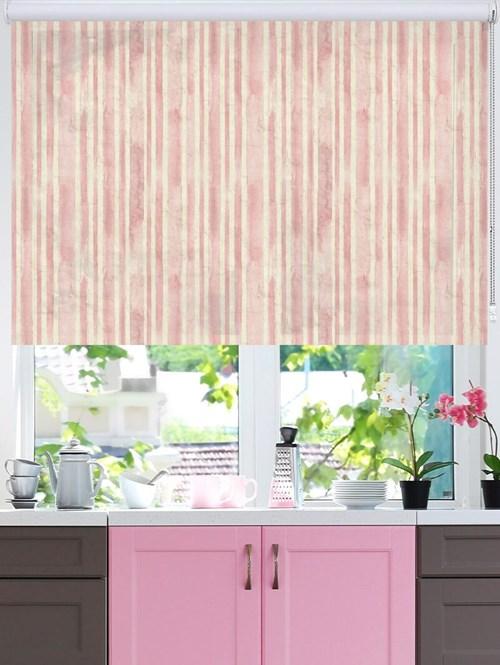 Vintage Stripe Pink Roller Blind