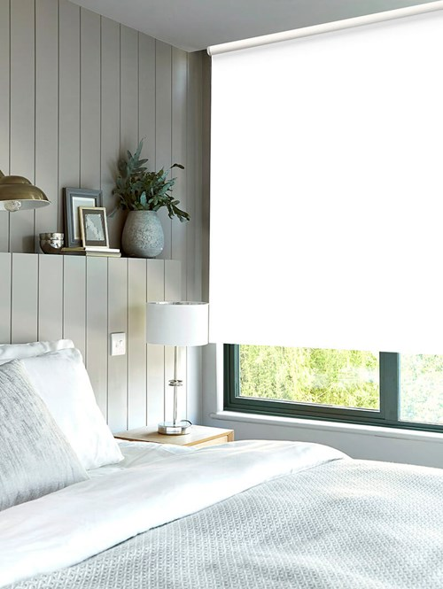 Winter White Thermal Plus Blackout Roller Blind