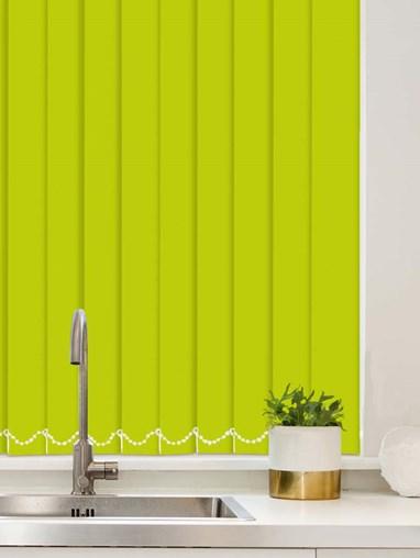 Apple Green Waterproof 89mm Vertical Blind