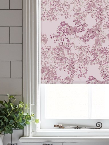 Arla Pink Roller Blind by Lorna Syson