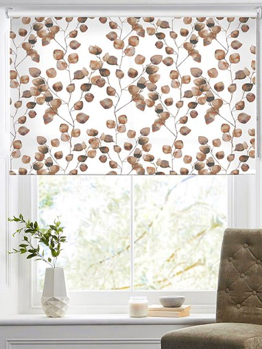 Climbers Neutral Floral Roller Blind