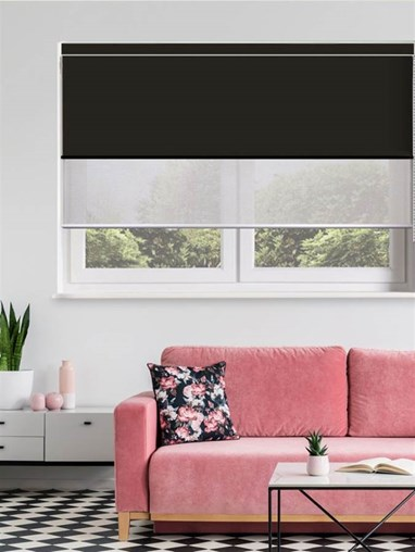 Black and Grey Luxury Double Roller Blind