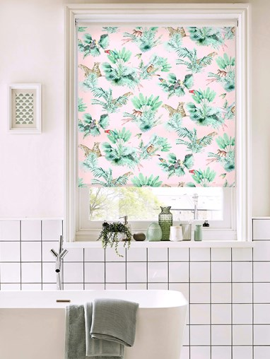 Honduras Blush Daylight Electric Roller Blind by Boon & Blake