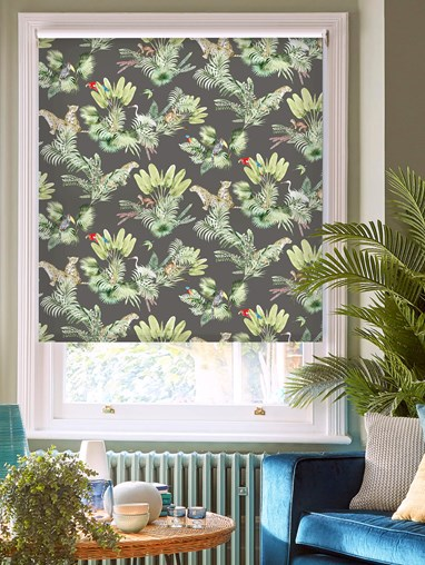 Honduras Charcoal Daylight Electric Roller Blind by Boon & Blake
