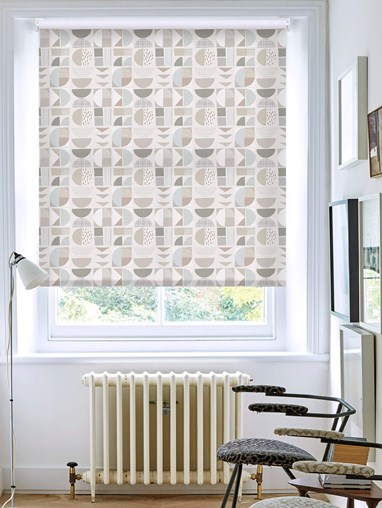Segments Neutral Daylight Electric Roller Blind