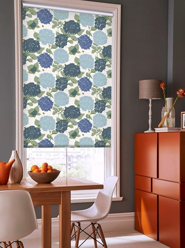 Hydrangea Roller Blind by Lorna Syson