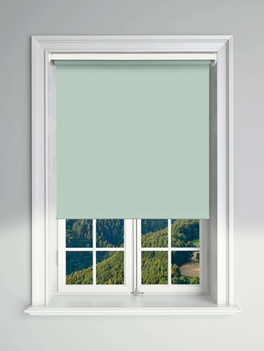 Blackout Aloe Electric Roller Blind Powered By Solux