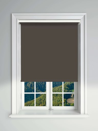 Blackout Dark Chocolate Electric Roller Blind Powered By Solux