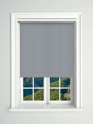 Daylight Foggy Sky Electric Roller Blind Powered By Solux