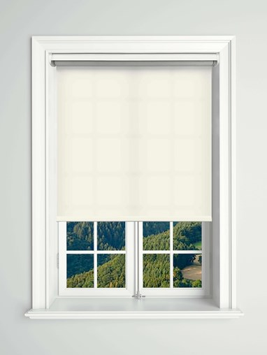 Daylight Snowflake White Electric Roller Blind Powered By Solux