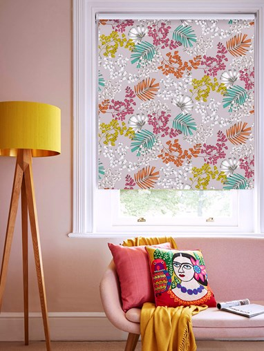 Maidenhair Multi Patterned Blackout Electric Roller Blind