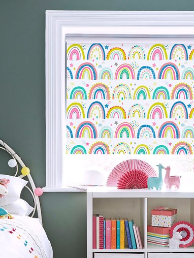 Over The Rainbow Multi Patterned Blackout Electric Roller Blind