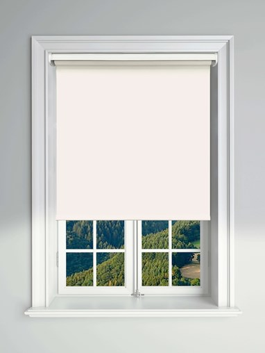 Blackout Ivory Electric Roller Blind Powered By Solux