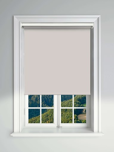 Blackout Light Grey Electric Roller Blind Powered By Solux