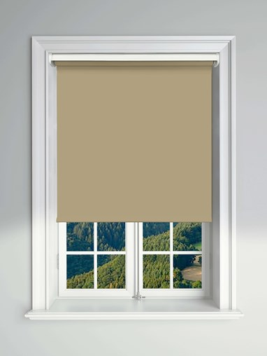 Blackout Natural Electric Roller Blind Powered By Solux