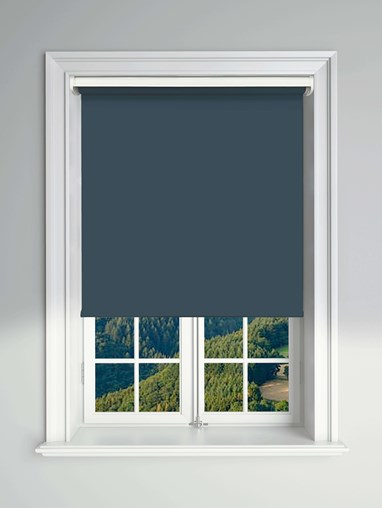Blackout Navy Electric Roller Blind Powered By Solux