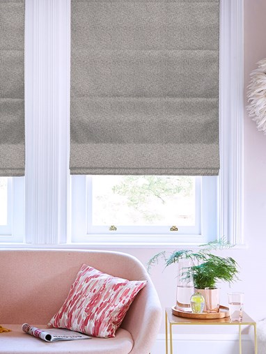 Hampton Castle Blackout Electric Roman Blind