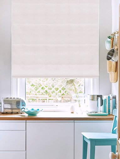 Hampton Sculpture Blackout Electric Roman Blind