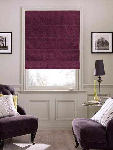 Hampton Velveteen Blackout Electric Roman Blind