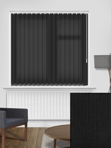 Candy Stripe Onyx 89mm Dim-Out Vertical Blind