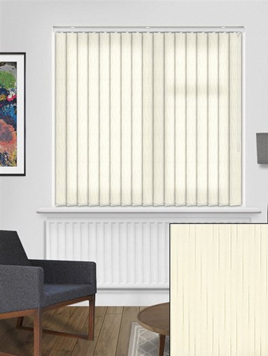 Crystalline Light Cream 89mm Vertical Blind Replacement Slats