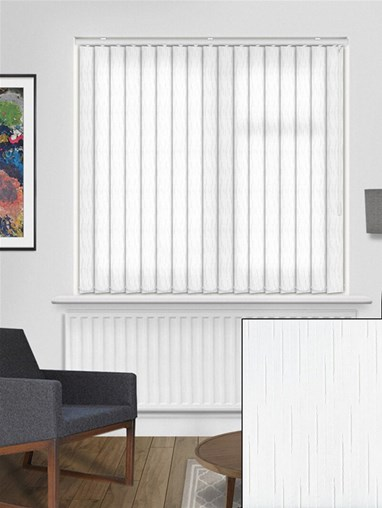 Crystalline White 89mm Vertical Blind Replacement Slats